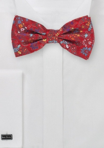 Colorful Paisley Bow Tie