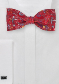 Floral and Paisley Self Tie Bow Tie
