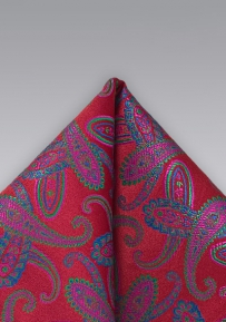 Red Paisley Handkerkechief