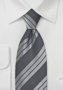 Modern Grey Striped Tie