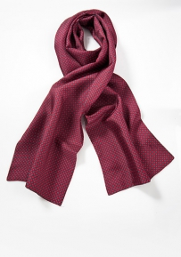 Silk Patterned Red Scarf