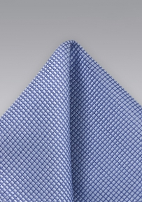 Ocean Blue Silk Pocket Square