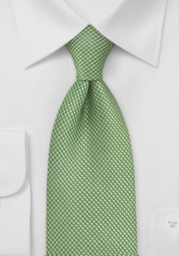 XL Solid and Textured Organic Green Tie