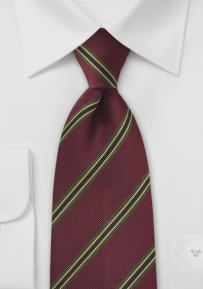 Regimental Striped Tie Deep Burgundy