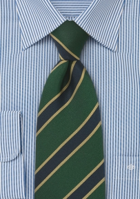 XL Length British Tie in Dark Green