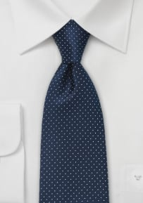 Men's Necktie in Navy and White