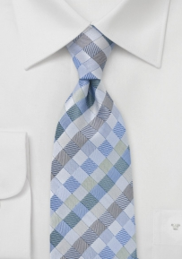 Diamond Tie in Silver and Blues