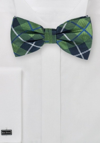 Tartan Plaid Bow Tie in Hunter Green