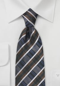 Art Deco Patterned Tie in Greys