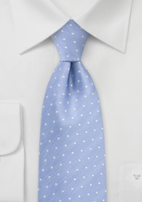 Kids Polka Dot Tie in Soft Blue