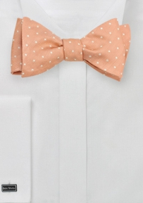 Polka Dot Bow Tie in Weathered Rose