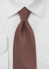 Pin Dot Tie in Dark Bronze