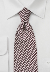 Chestnut and Ivory X Patterned Tie