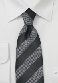 Elegant Tie by Cavallieri in Gray and Black
