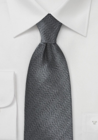 Textured Black and Pewter Necktie