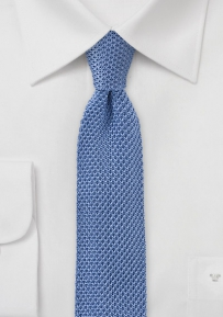 Cornflower Blue Knitted Necktie