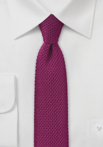 Sangria Pink Knitted Silk Tie