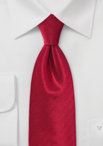 Bright Red Feather Patterned Necktie