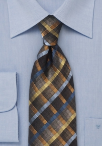 Dynamic Diamond Patterned Tie in Blacks