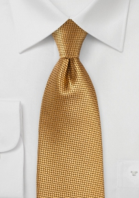 Rich Antique Gold Silk Tie for Boys