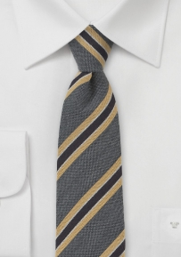 Autumn Hued Skinny Wool Tie by BlackBird