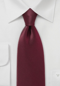 Pure Silk Bordeaux Colored Necktie
