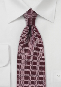 Modern Graphic Print Tie in Maroon