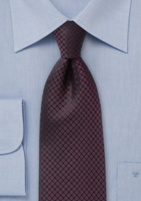 Elegant Burgundy Tie Accented with Black