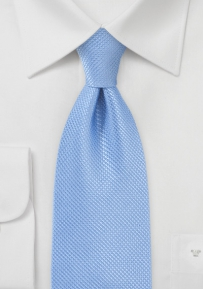 XL Length Silk Tie in Gentle Hydrangea Blue