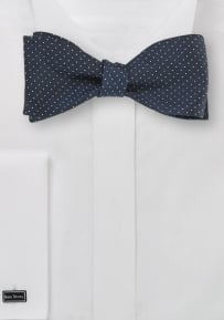 Pin Dot Bow Tie in Midnight Blue