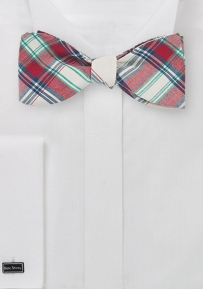 Summer Cotton Bow Tie with Trendy Plaids