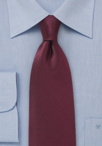 Corduroy Silk Tie in Port Red