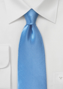 Corduroy Silk Tie in Sky Blue