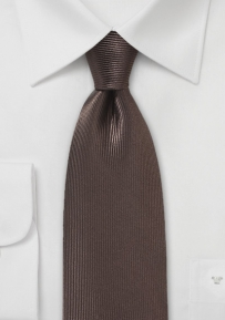 Corduroy Silk Tie in Chocolate