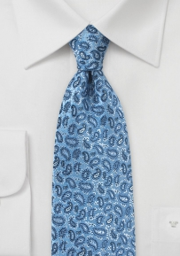 All Over Paisley Silk Tie in Forever Blue