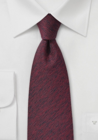 Elegant Winter Tie in Cherry Red