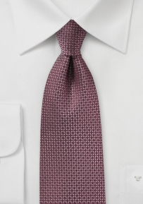 Designer Silk Tie in Port Wine Red