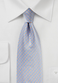 Mini Check Sik Tie in Blue and Pink