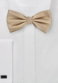 Solid Champagne-Cream Bow Tie