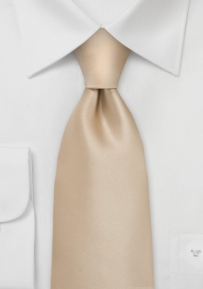 Solid Champagne-Cream Tie for Boys