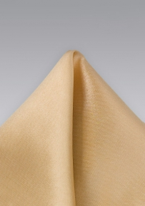 Elegant Champagne-Cream Pocket Square