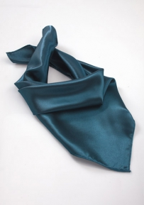 Solid Teal Blue Neck Scarf for Women