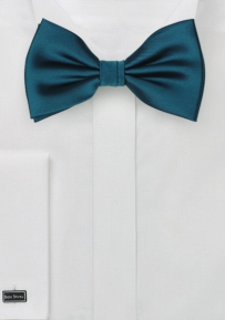 Teal Blue Single Colors Bow Tie