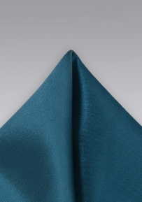 Elegant Teal Colored Pocket Square