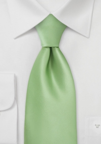 Solid XL Sized Tie Key-Lime Green
