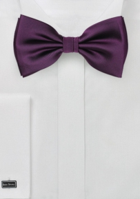 Classic Bow Tie in Berry Purple