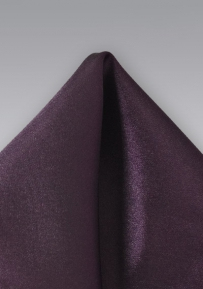 Men's Formal Pocket Square in Berry Purple