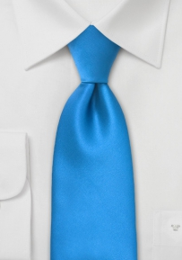Mens Necktie in Solid Ice-Blue