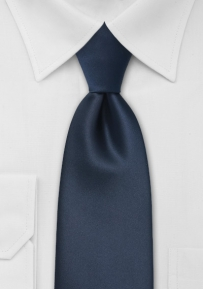 Solid Dark Navy XL Length Mens Tie