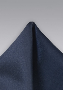 Solid Pocket Square in Dark Navy Blue